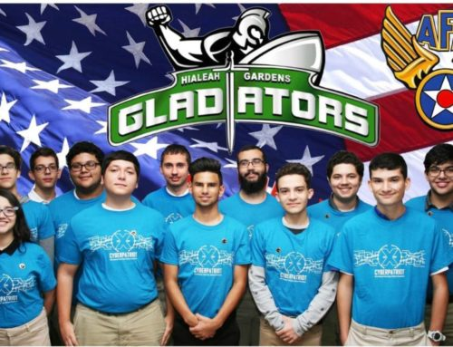 Miami AFA Donates CyberPatriot Team T-shirts