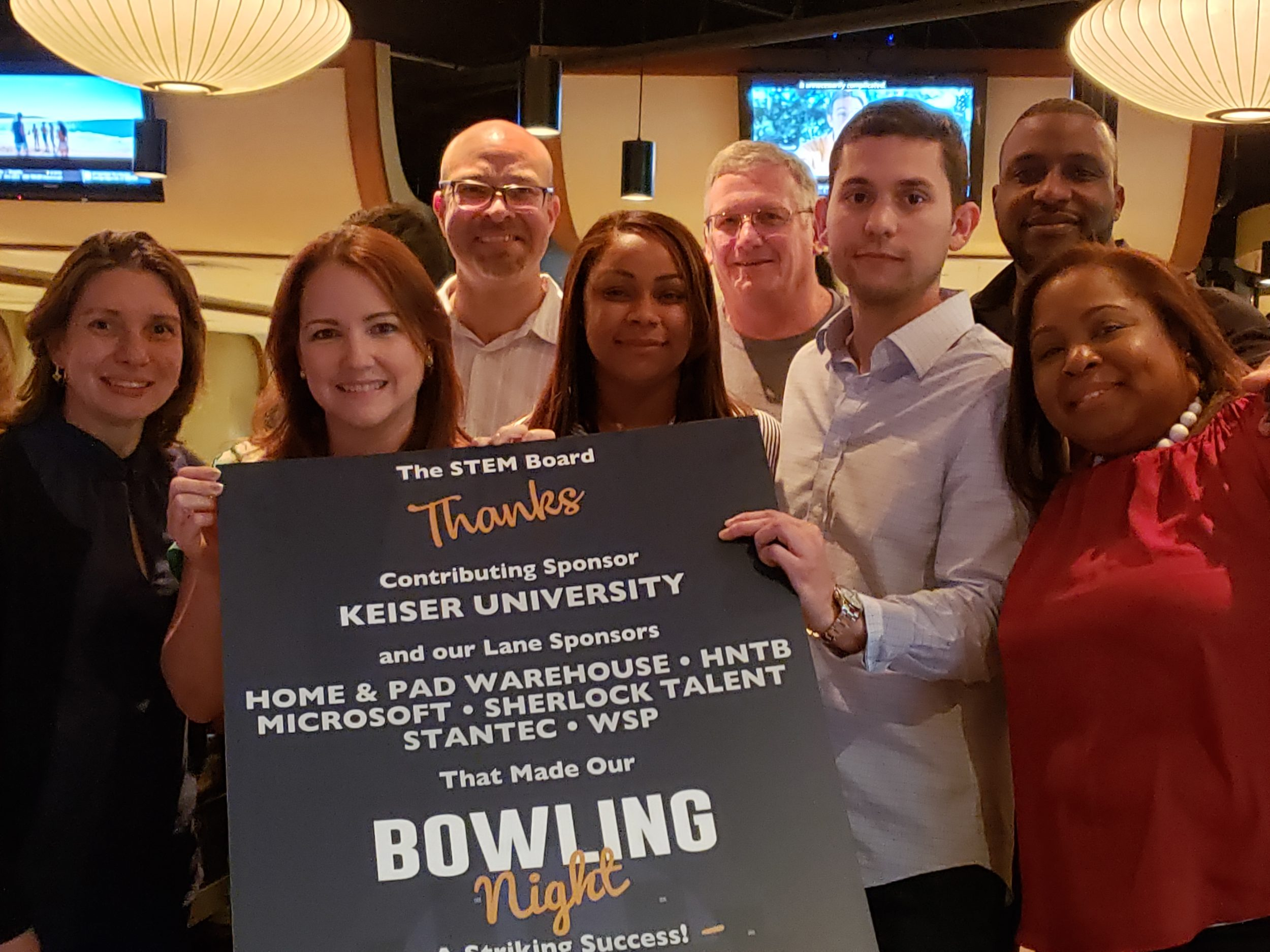 Bowling for Stem Education a Big Success