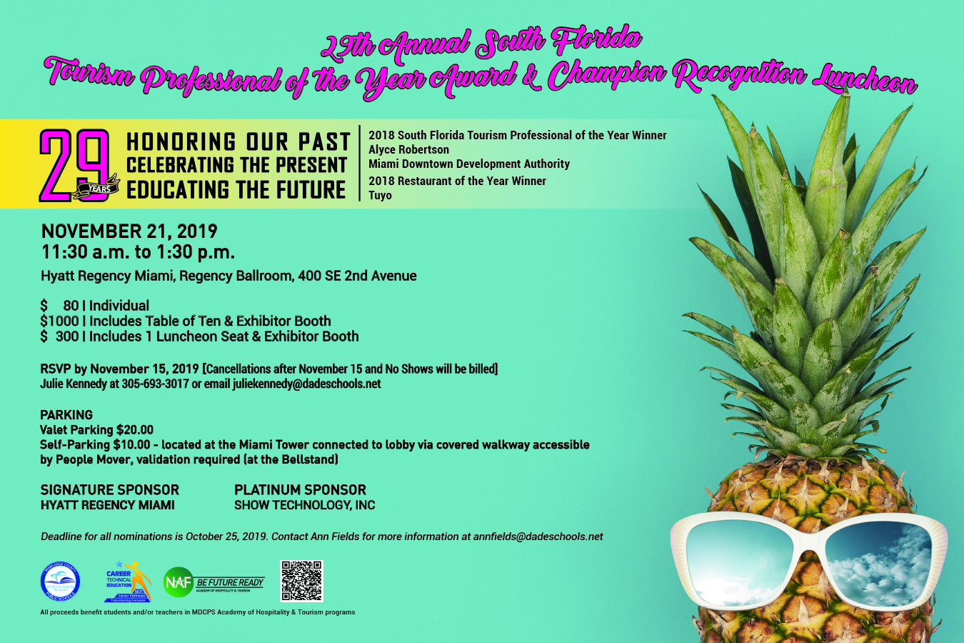 Nominations Open for 29th Annual South Florida Tourism Professional of the Year!