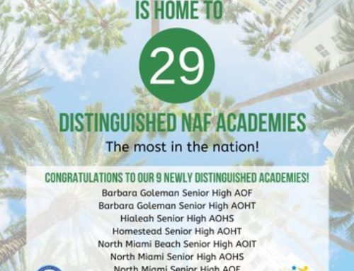 Proud of NAF Miami Students and Teachers!