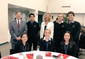Pictured with students, SFEFCU CEO Michael DiBenedetto & Executive Vice President Janell Adams
